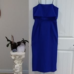 NWT bue Betsy  Adams  formal dress size 8